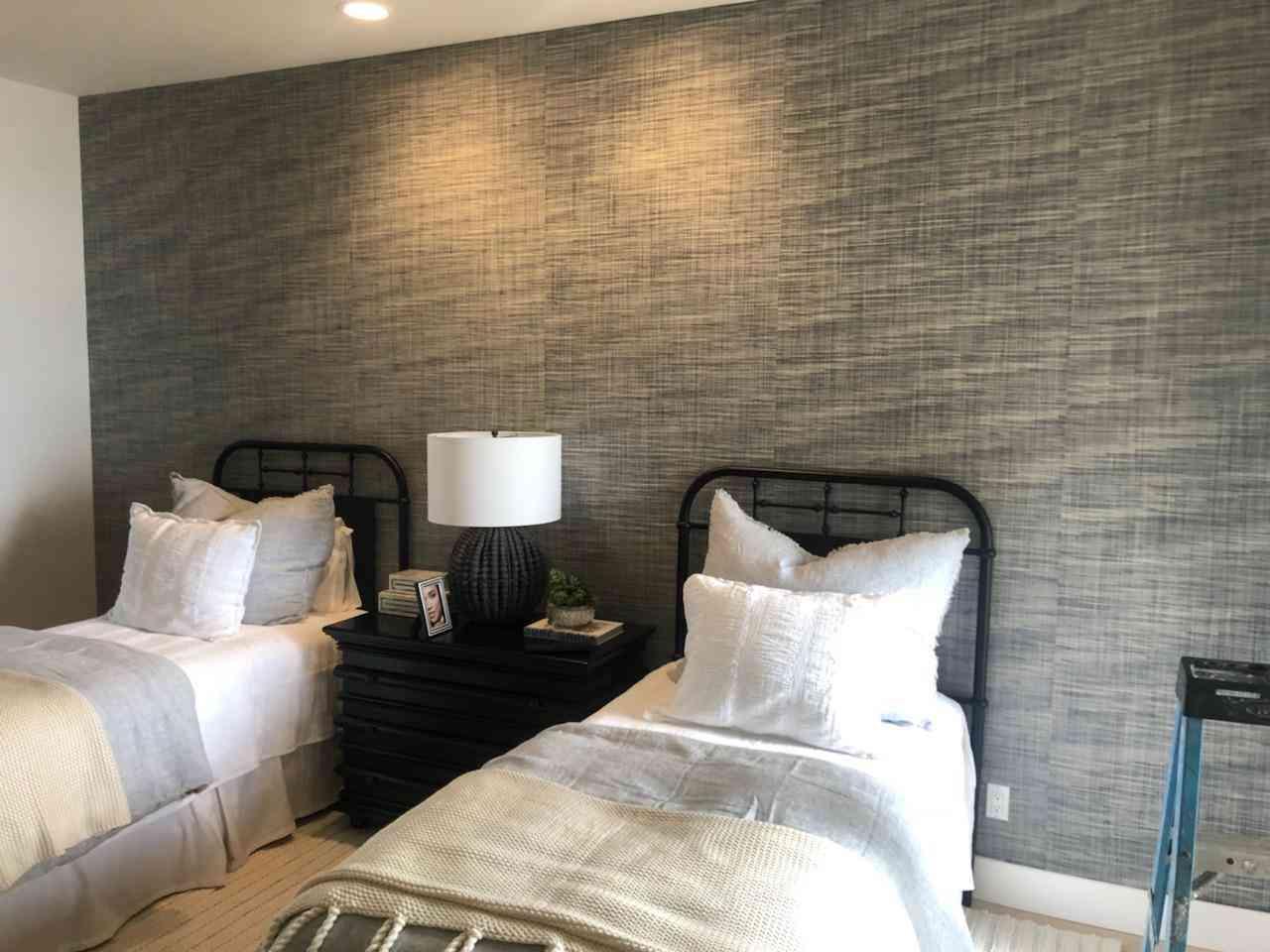 Tweed Looking Wallcovering & Installation